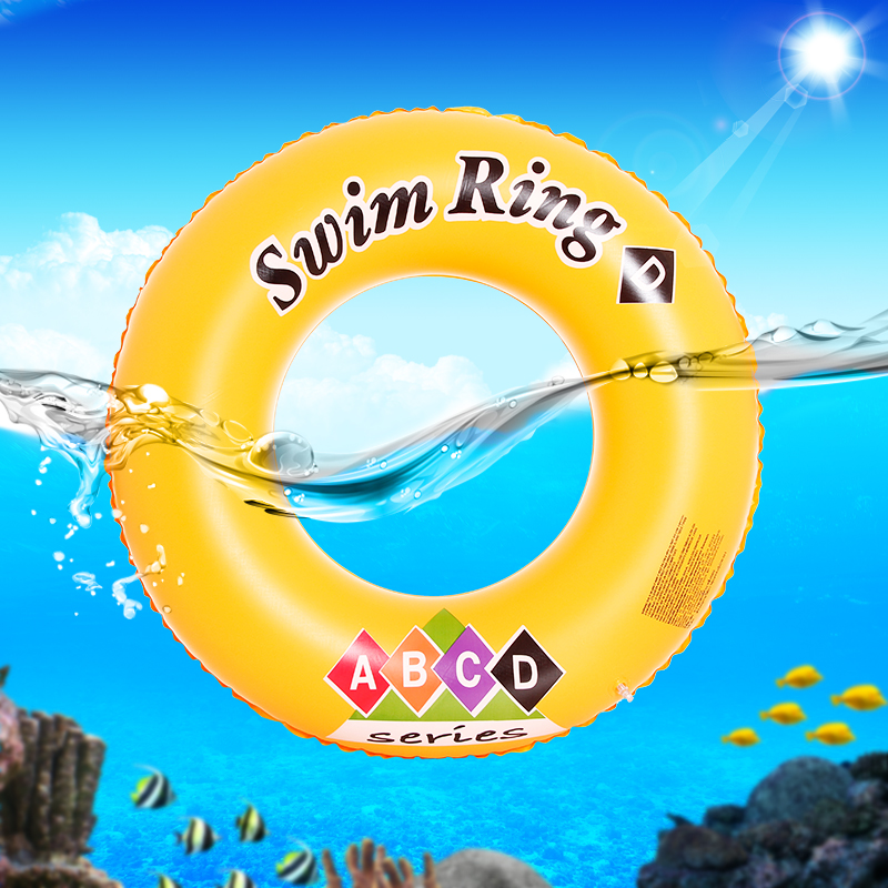 Woo swim ring thickening adult children love handles floating ring professional infants learn to swim equipment lifebuoy