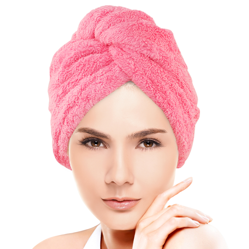 Wood edge xuan single thick coral velvet plush super absorbent towel dry hair towel dry hair dry hair hat long hair short hair General motors