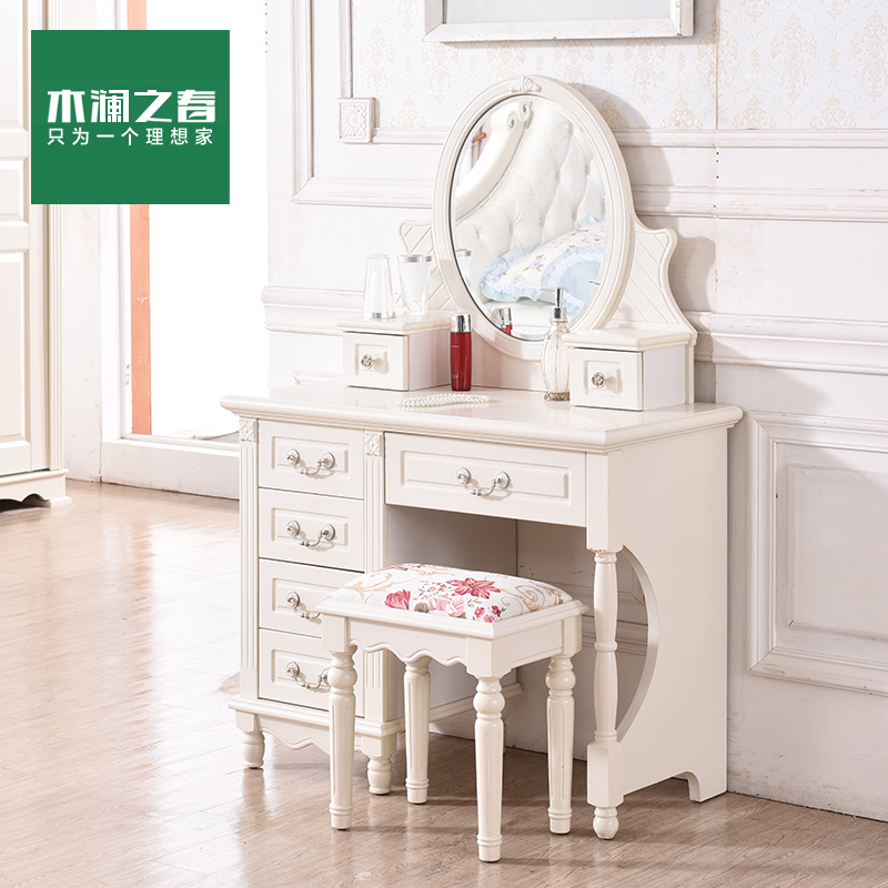 Wood lan spring korean garden dresser dressing table small apartment minimalist wood continental dresser bedroom furniture