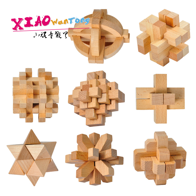 Wooden ming lock luban lock free shipping kit for children over the age of adult educational toys to unlock the old people