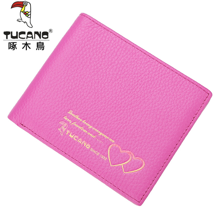 Woodpecker ms. wallet women short paragraph ms. wallet fashion leather wallet first layer of leather 2016 cm hot