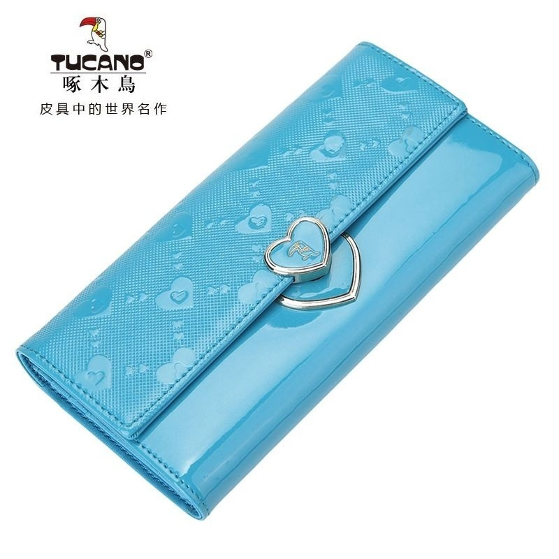 Woodpecker ms. wallet women wallet purse candy brand cowhide leather wallet women wallet long section of female leather folder