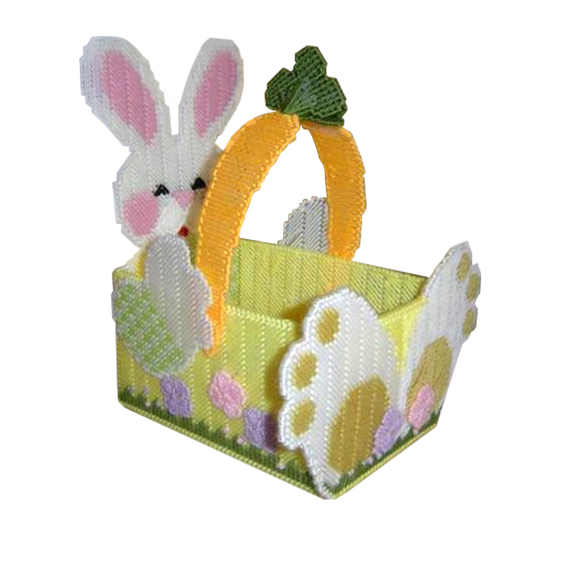 Wool embroidered three-dimensional three-dimensional embroidery stitch tissue box pumping tray 172 bunnies diy storage box basket living room of the new diamond