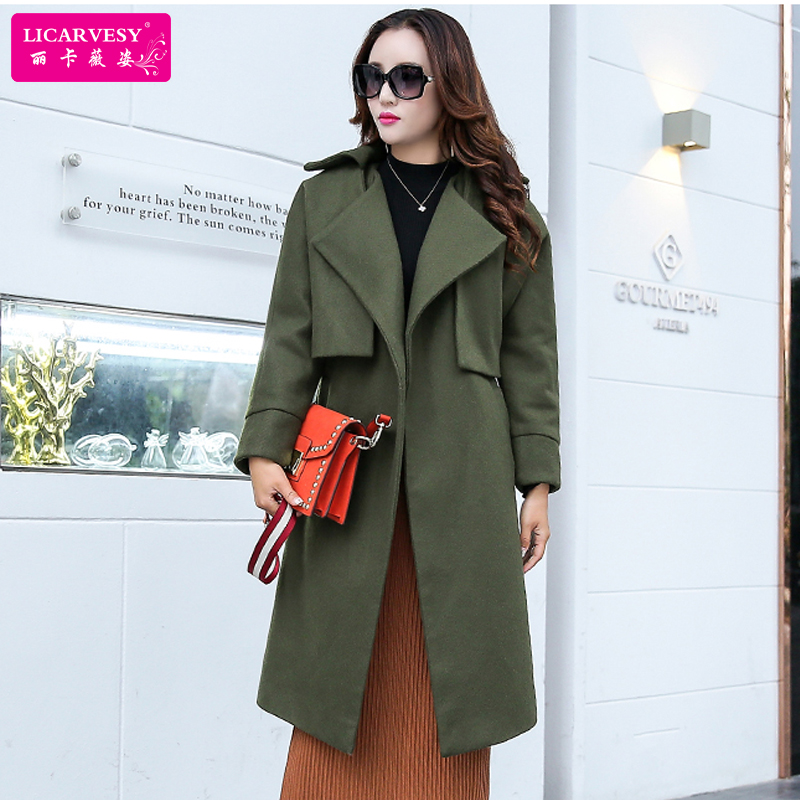 Woolen suit female winter 2016 new korean women's fashion loose woolen coat thick piece vest
