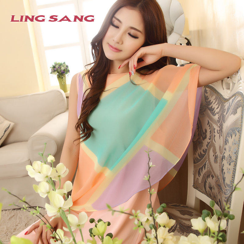 23053d6f75 Woven cotton silk pajamas princess nightgown women tracksuit fat mm summer  fashion sexy big yards rayon