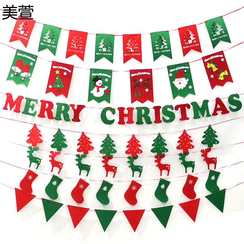 get quotations a wovens pull the flag christmas decorations christmas stockings hanging flags mall shop ceiling layout pennant