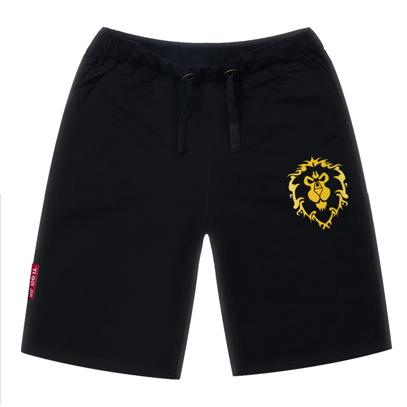 b98bc20218ce Get Quotations · Wow world of warcraft tribal alliance logo summer shorts  fifth of men straight loose casual beach