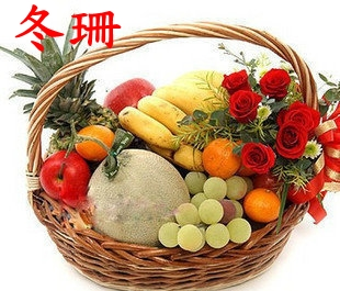 Wuxi flowers gift baskets fruit baskets visit condolences elders gifts women's day flower delivery nanjing zhenjiang district gaotang