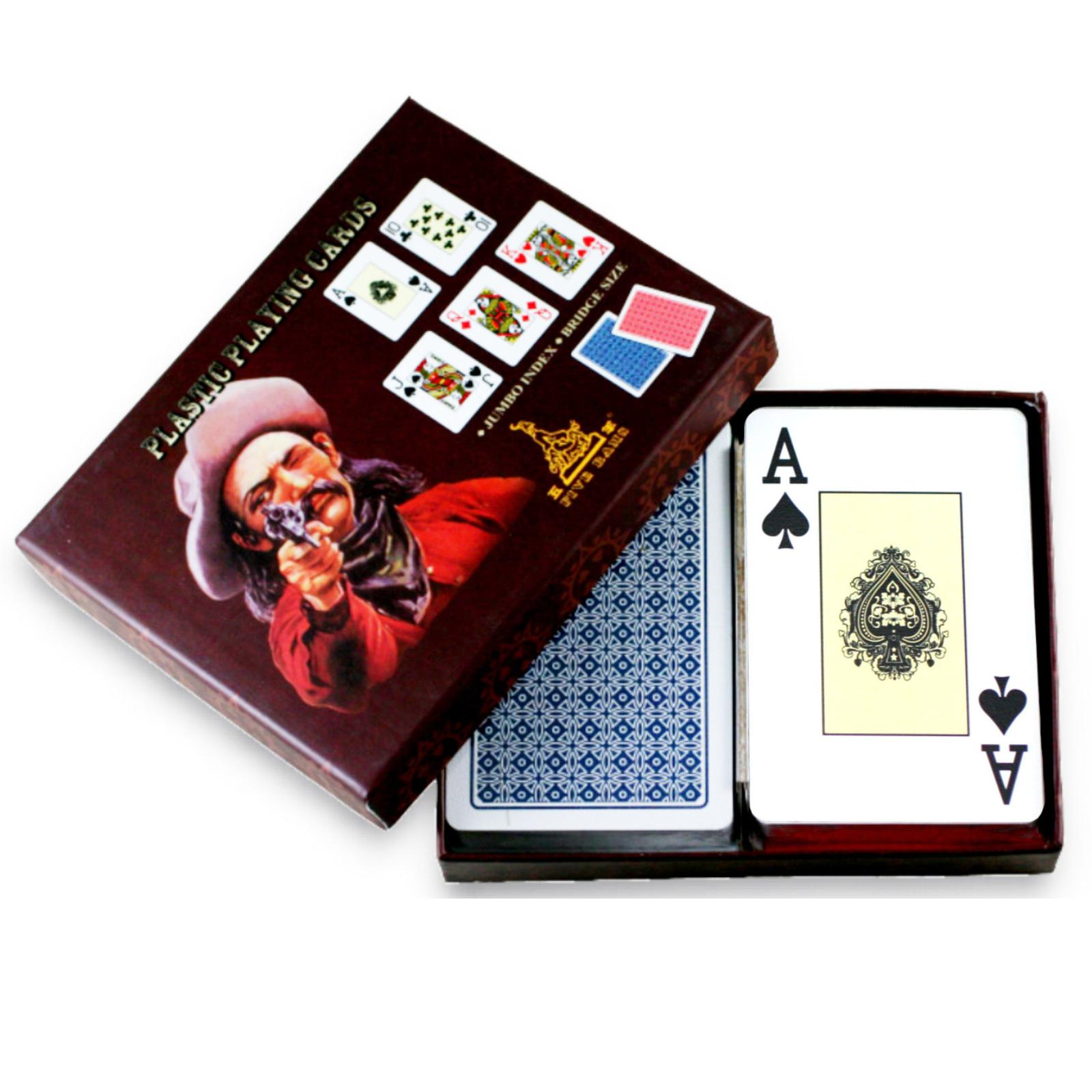 Wuyang narrow brand pvc plastic poker poker bighorn code characters hold'em poker myopia old chilaquile 4-stud