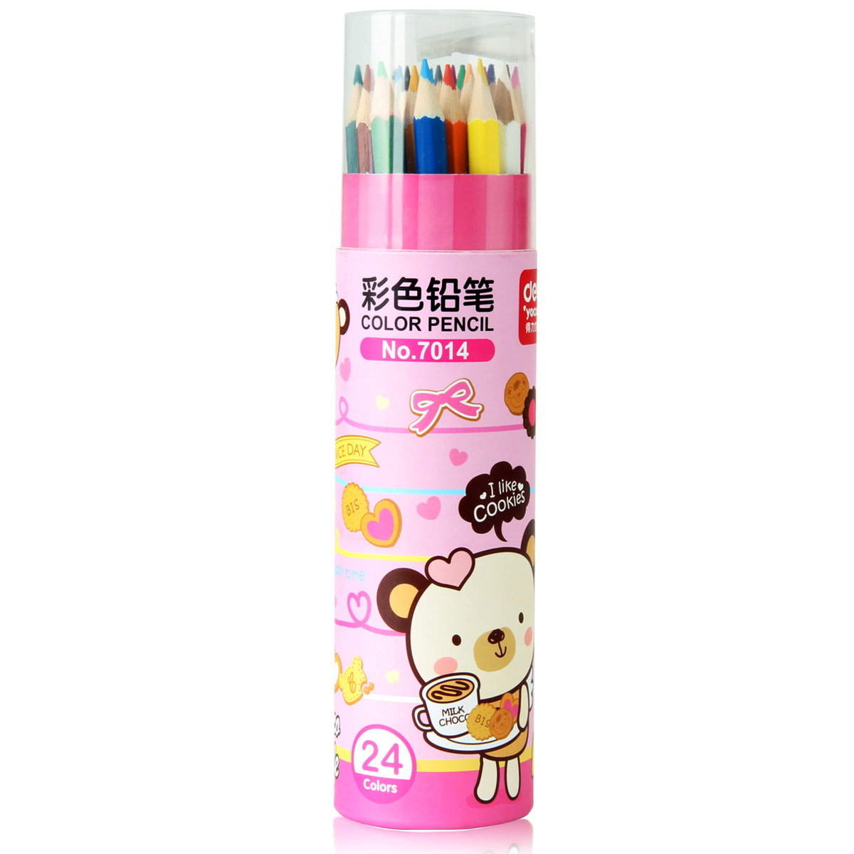 Www.youku.com series deli deli deli 7014 color of lead 24 color color pencil student stationery art supplies