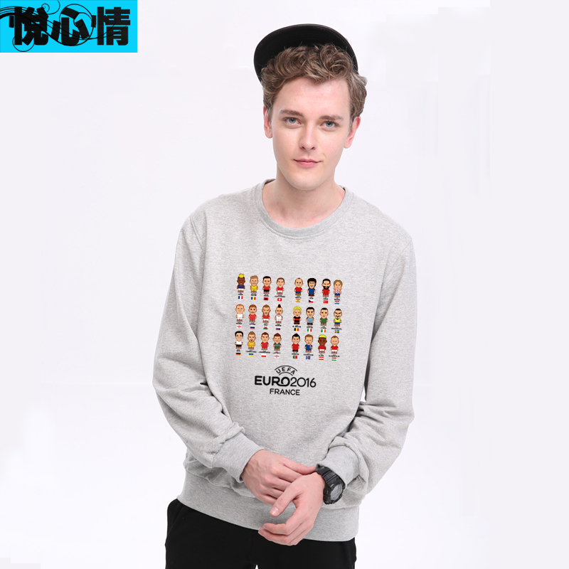 4a80ed2d4 Get Quotations · Wyatt mood 2016 autumn paragraph france european cup  football club jersey sweater hedging cotton round neck