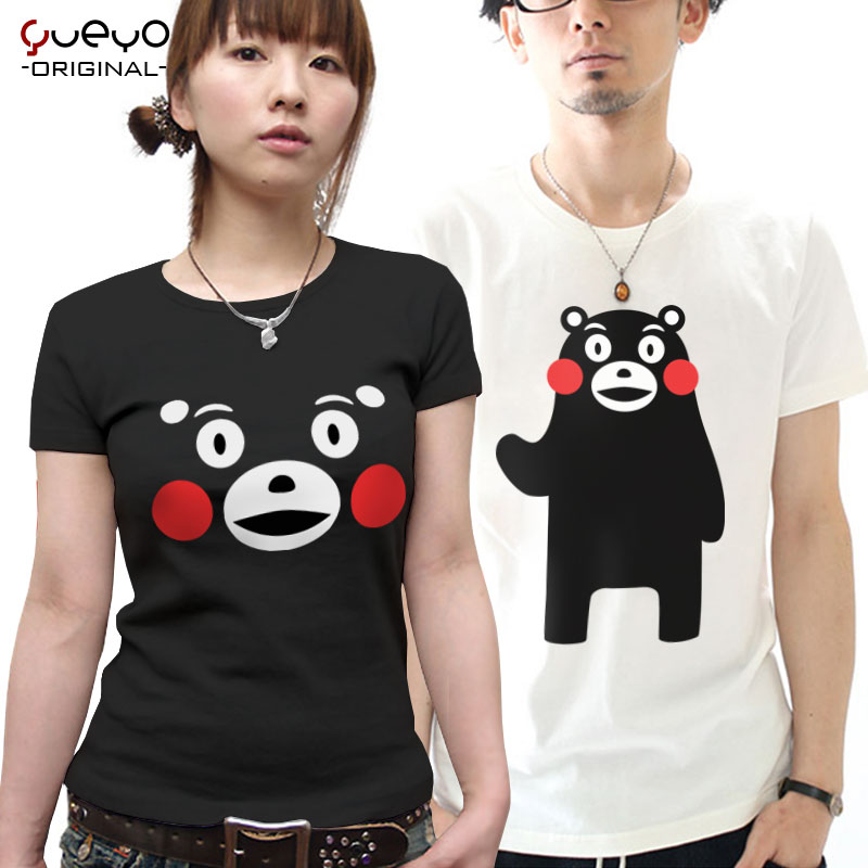 Wyatt tour lovers cotton short sleeve t-shirt animation around clothes kumamoto prefecture mascot kumamon meng xiong