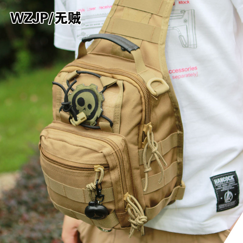 Wzjp without thieves 1000d male military fans outdoor leisure riding with three multifunction chest pack chest bag street bag