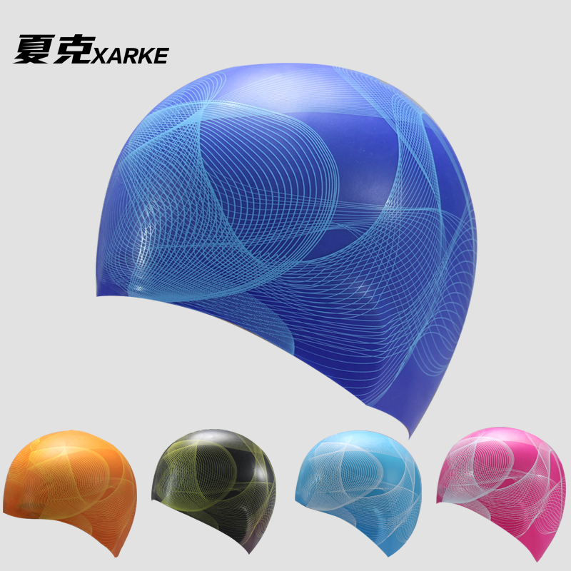Xarke begotiation membership 2015 new swimming waterproof silicone swimming cap swimming cap with long hair for men and women professional sports equipment