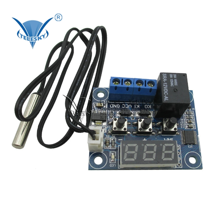 Xh-w1209 waterproof mini version of high precision digital temperature controller temperature controller temperature switch thermostat temperature control dc-12v