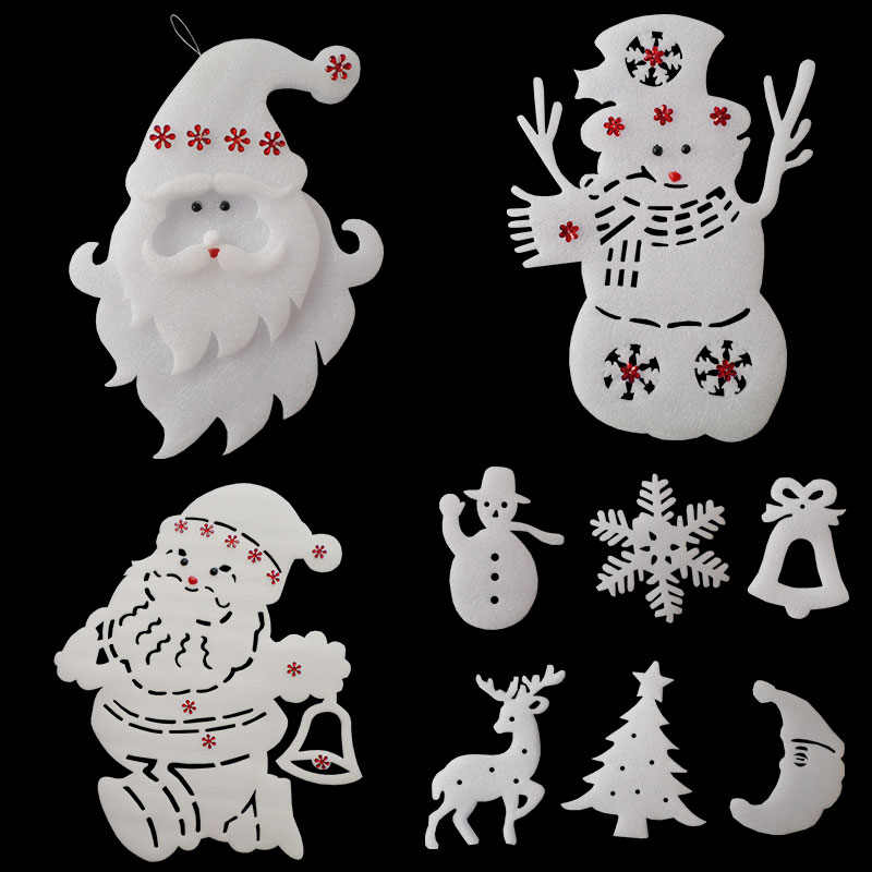 Xi bao christmas glass window klimts foam snowman santa claus christmas decorations wall stickers window stickers