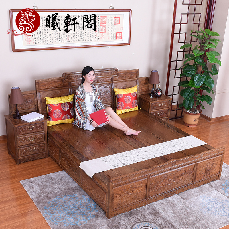 Xi hin court mahogany furniture wenge wood antique wood bunk bed bed bed bedroom double bed antique shop