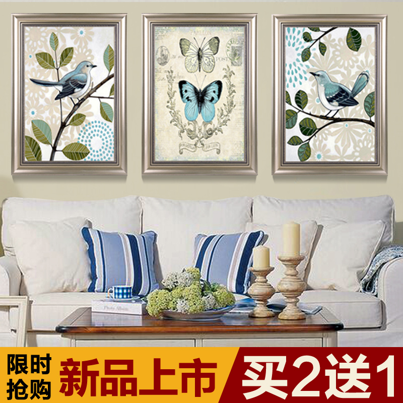 Xi shi vintage american country style bedroom room entrance mural paintings decorative painting modern living room restaurant pair of lovebirds