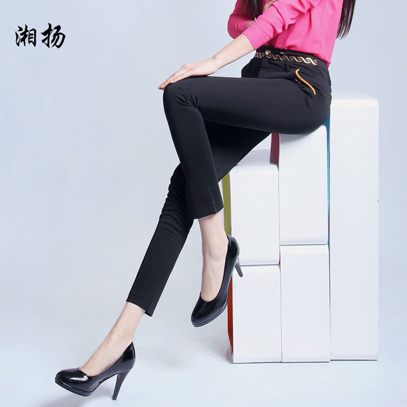 Xiang yang 2015 spring and summer women straight jeans thin section was thin stretch pants casual trousers straight jeans son ladieswear commuter trousers