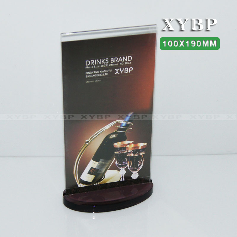 Xiangyu t-shaped special acrylic drinks license menu cards taiwan card 100 * 190MM display card taiwan card table card xiangyu