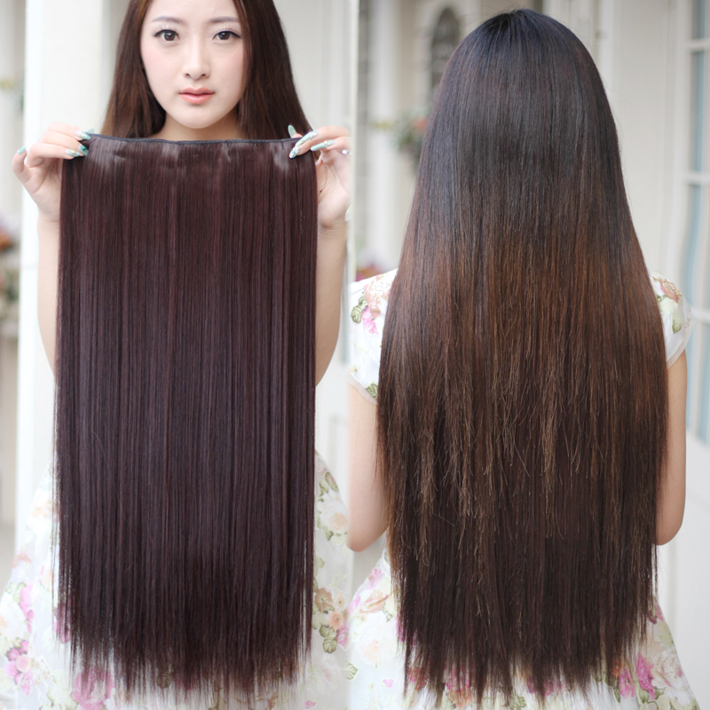 Xiao qi wig hair piece hair piece hair piece simulation straight hair piece wig hair piece hair thicker hair piece