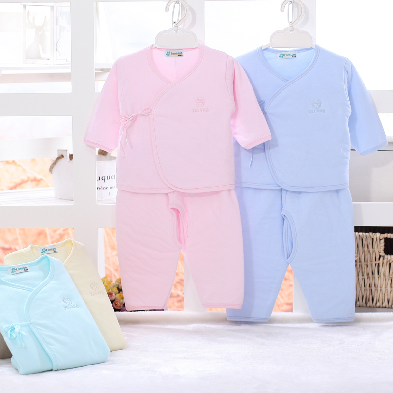 Xiaoqinglong children antarctic cotton sweaters fall and winter children warm thick underwear sets baby thermal underwear