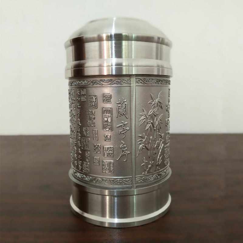 Xihu tin cans tin tea caddy tea box tea tea boutique handmade tea pot storage tank