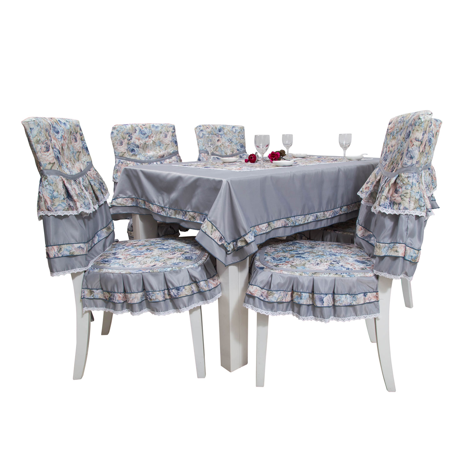 Xin Instrument Tables And Chairs Fabric Dining Chair Cushion Pad Coverings  Suits Coffee Table Cloth Table