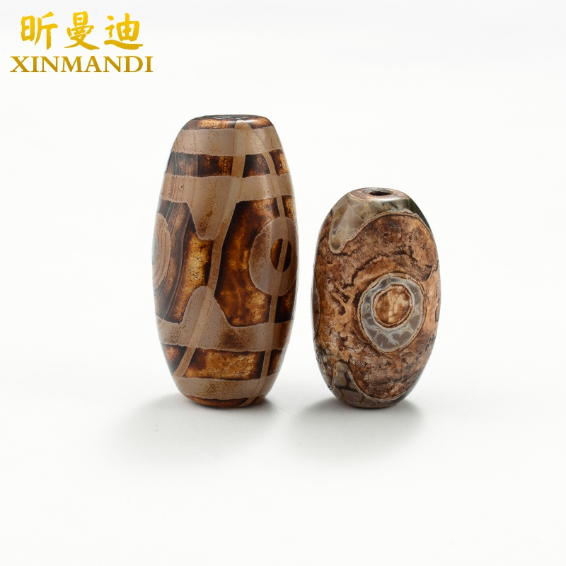 Xin mandy-14mm three eye mayhidden agates measle top bead spacer beads tibetan dzi beads nine beads diy accessories