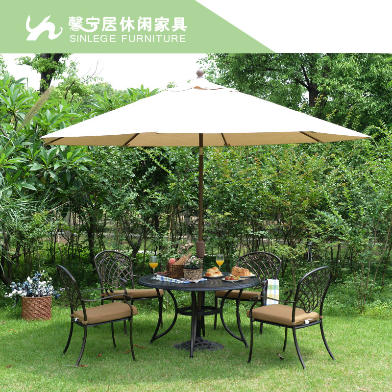 Xin ning habitat retro rustic cast aluminum tables and chairs for outdoor garden and terrace home with tables and chairs balcony chairs wujiantao