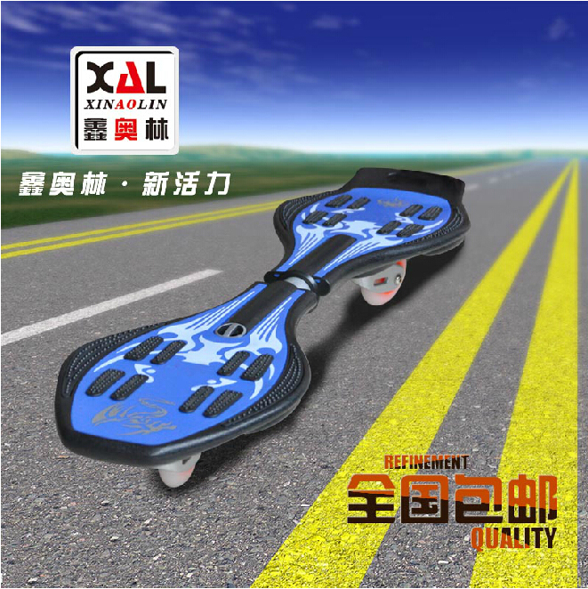 Xin olin children scooters two flash skateboard long board teenagers skateboard authentic free shipping