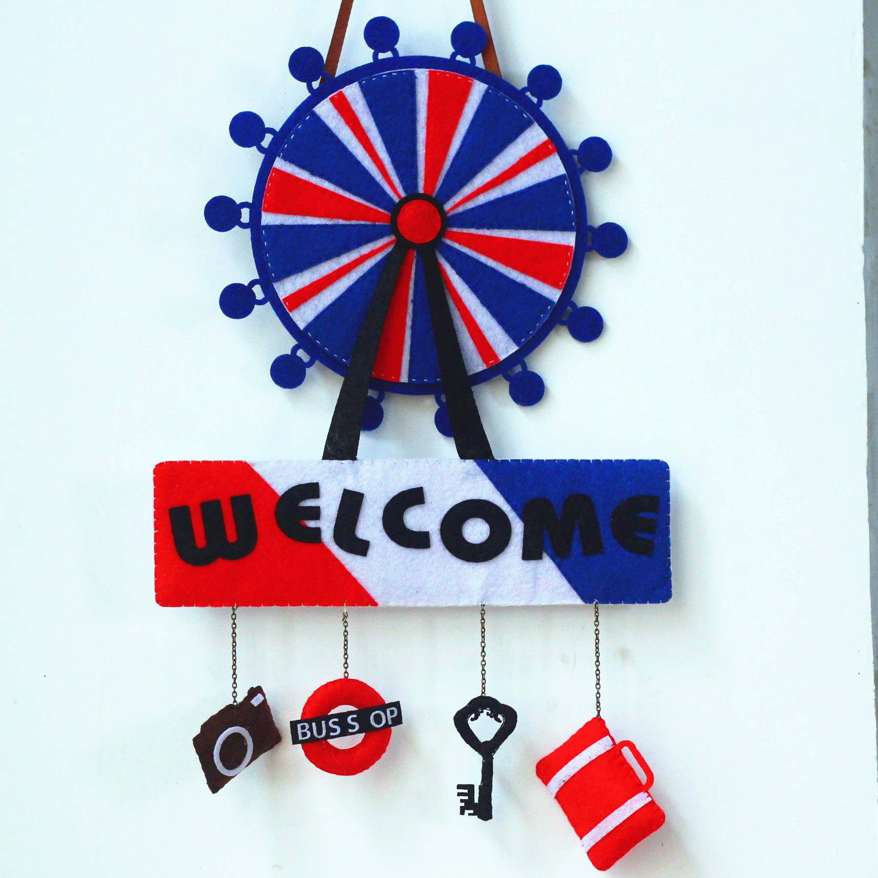 Xin qing original material diy handmade cloth bag free cutting of non woven material suit british style doorplates