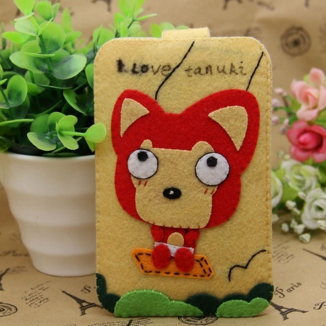 Xin qing original material diy handmade cloth swing fox phone package 1153
