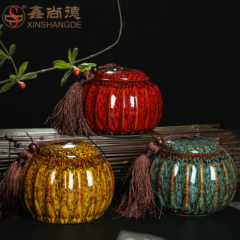 Xin suntech ceramic glaze kiln kung fu tea accessories tea caddy storage tanks sealed cans ²èò¶ºð