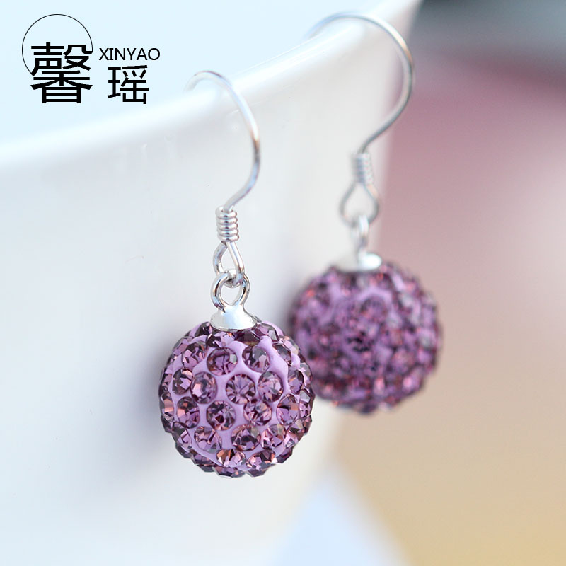 Xin yao days 5a s925 silver diamond earrings female temperament diamond earrings shine korean silver earrings hypoallergenic earrings ear jewelry