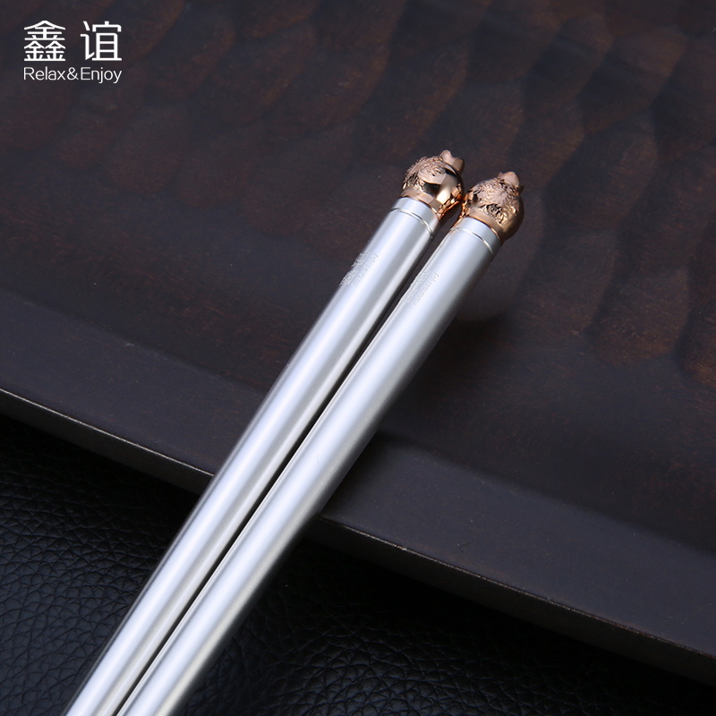 Xin yi christmas snowball 999 silver silver silver plated stainless steel chopsticks chopsticks silver cutlery business gifts to share