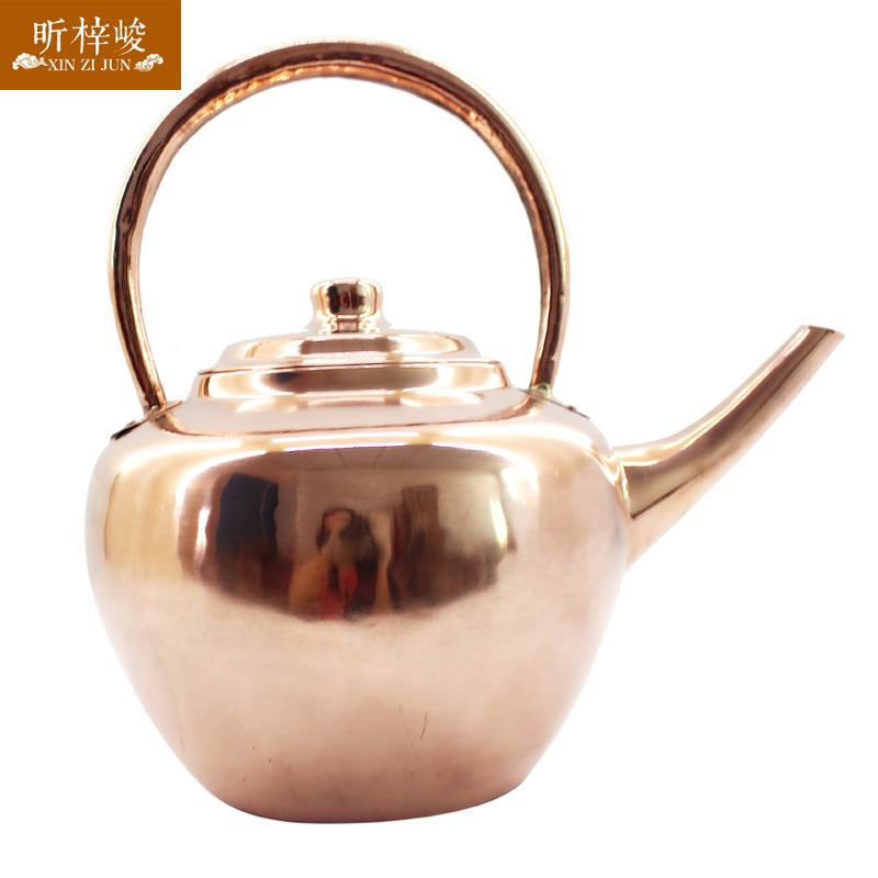 Xin zi finishing pure brass thick copper kettle copper kettle kettle pot handmade copper pot add soup pot dragon mouth