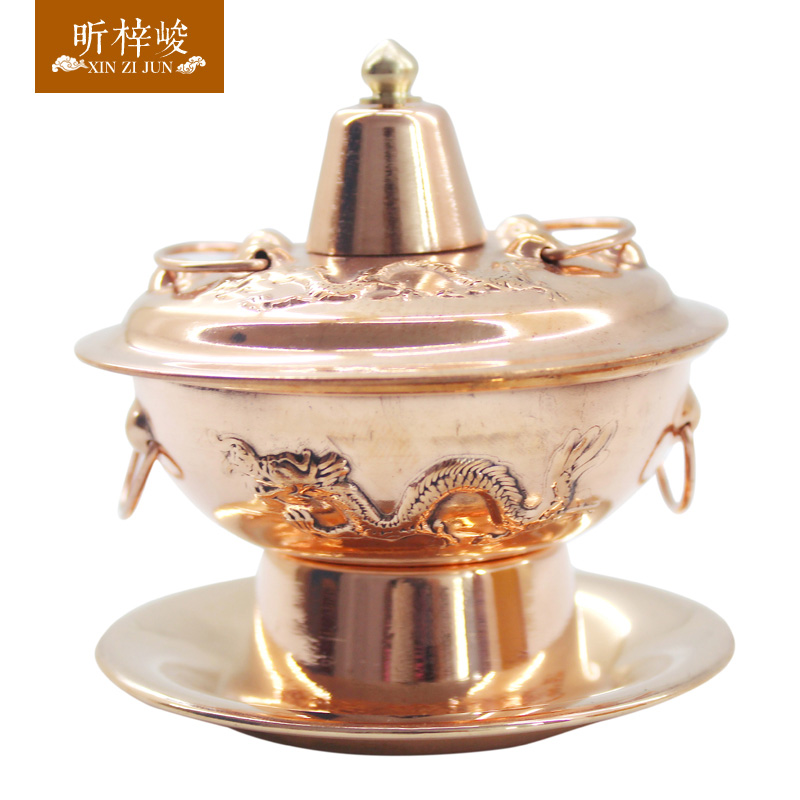 Xin zi for completion of the gifts small gifts small pot fondue pot of pure copper copper small pocket kawaii small pot Copper pot