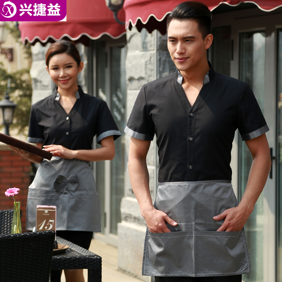 Xing jie yi hotel uniforms hotel restaurant waiter overalls summer clothes for men and women barbecue restaurant waiter sleeved