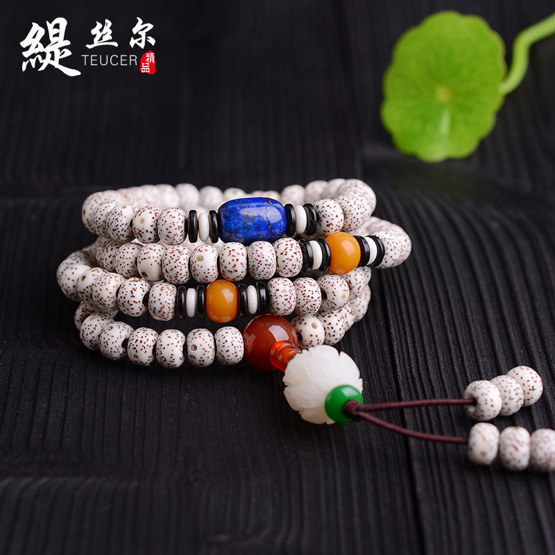 Xingyue bodhi 108 prayer beads bracelets bracelet male and female models long necklaceé¢lunar January wool clothes chain birthday gift
