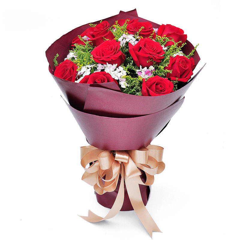 Get Quotations Bole City Flower Delivery To Send His Girlfriend A Birthday Gift Bouquet Of Red Roses