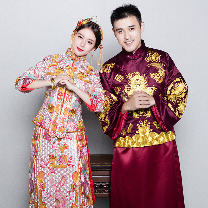 Get Quotations Xiu Chinese Wedding Dress Bridal Gown 2016 New Toast Clothing Retro Flag Hi Word