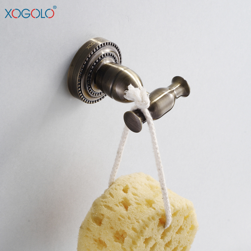 Xogolo all copper coat hooks coat hooks single hook bathroom hook green ancient european bathroom accessories 3554