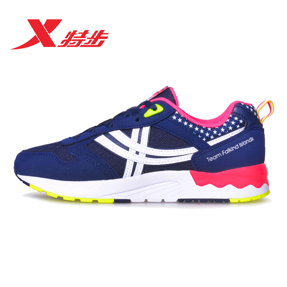 Xtep female models sports shoes women casual shoes 2016 summer new casual and comfortable breathable mesh running shoes women running shoes