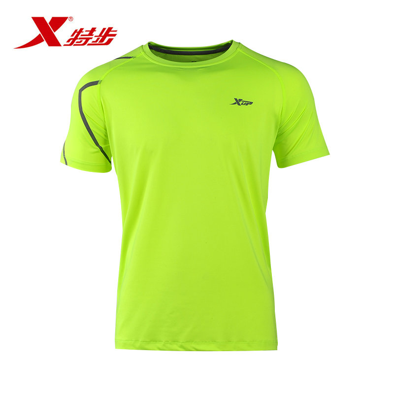 Xtep official authentic 2016 new spring and summer men short sleeve t-shirt cool breathable comfortable sports lovers t-shirt men