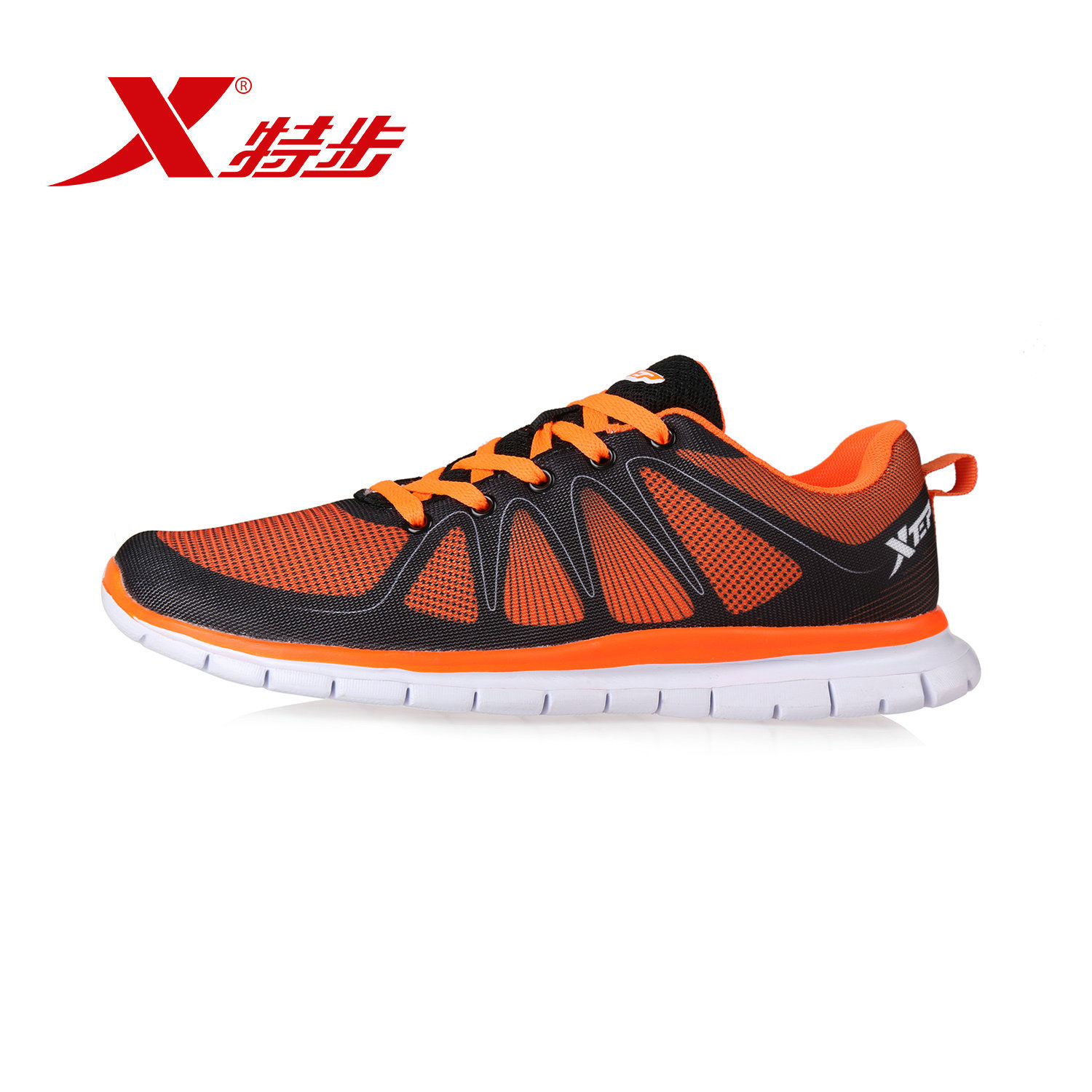 Xtep official authentic new fall fashion casual sports shoes lightweight breathable running shoes comfortable and lightweight slip
