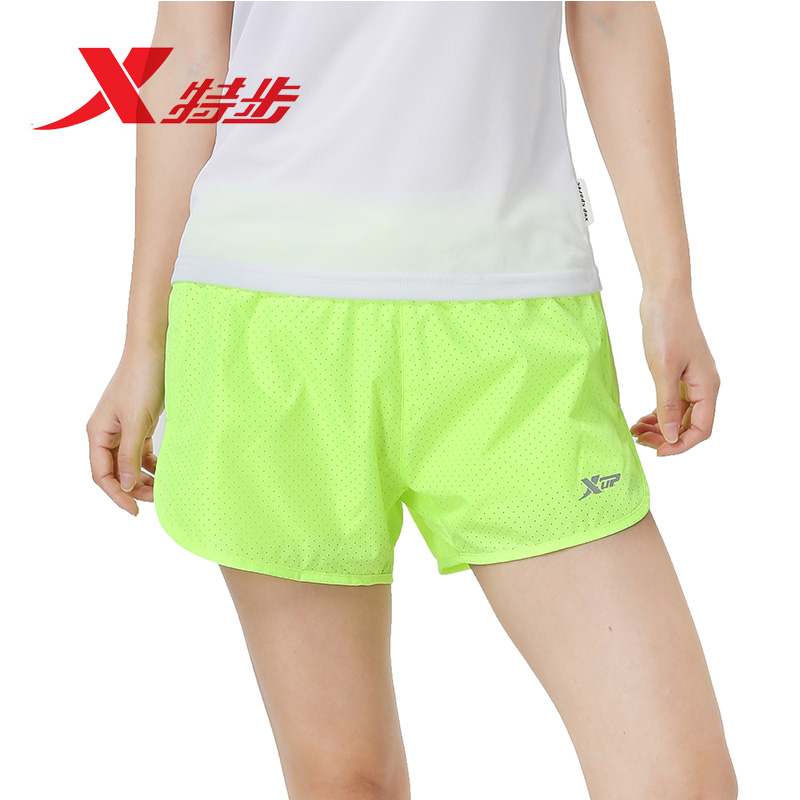 8d6a1647b2a Get Quotations · Xtep women s double 2016 new summer shorts female sports  pants breathable running pants three pants