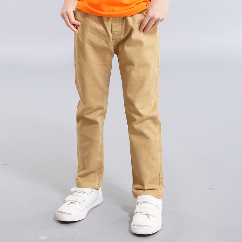 Xu ze kids children boys casual pants spring and autumn paragraph slim pants big virgin solid color pants tide students