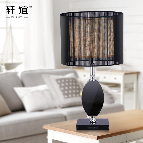 Xuan yi modern minimalist bedside lamp decorative crystal table lamp table lamp living room lamp bedroom lamp creative study lamp living room lights