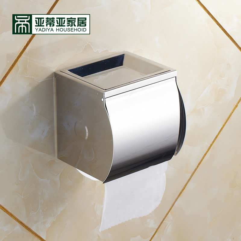Ya diya stainless steel toilet paper cassette toilet tissue box waterproof roll toilet paper holder grass carton box of toilet hygiene